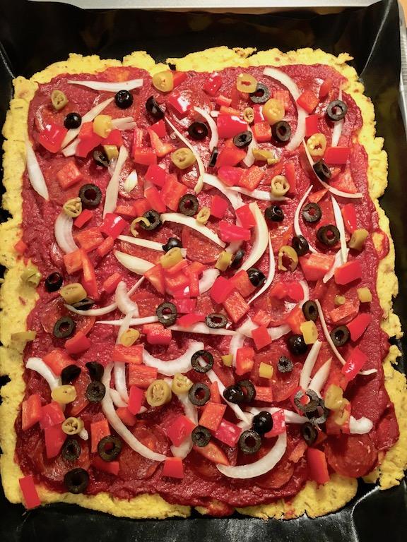 Rezepte: Hauptgerichte: Polentapizza ohne Käse - ungebacken
