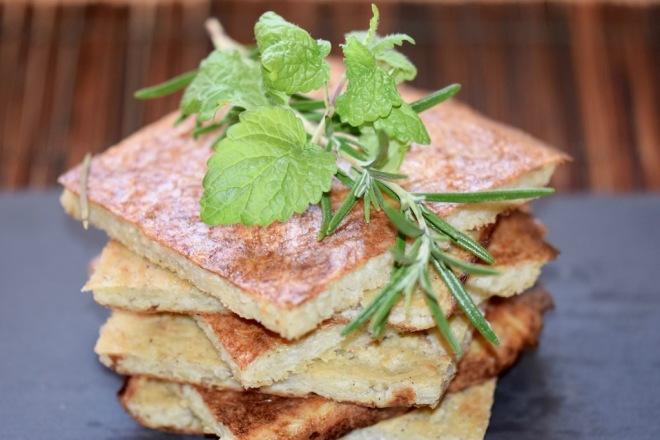 Rezepte: Hauptgerichte: Kartoffelpuffer aus dem Ofen mit Kräutern