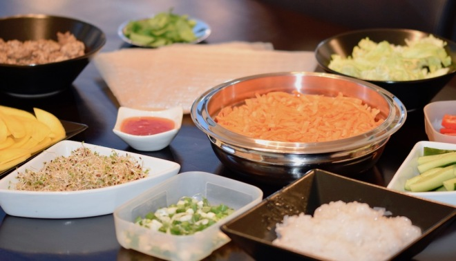 Rezepte: Hauptgerichte: Sommerrollen - Zutaten