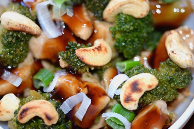 Rezepte: Hauptgerichte: Teriyaki-Huhn mit Brokkoli - Nahaufnahme