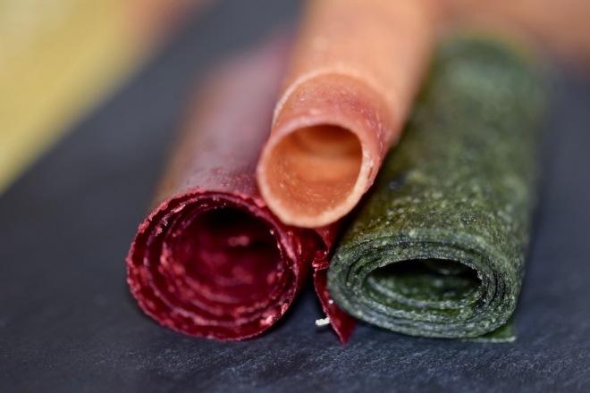 Tipps & Infos: Fruchtleder - eine gesunde Nascherei - Fruchtleder-Rollen - verschiedene Farben