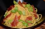 Rezepte: Hauptgerichte: Spaghetti al limone mit Schinken und Basilikum