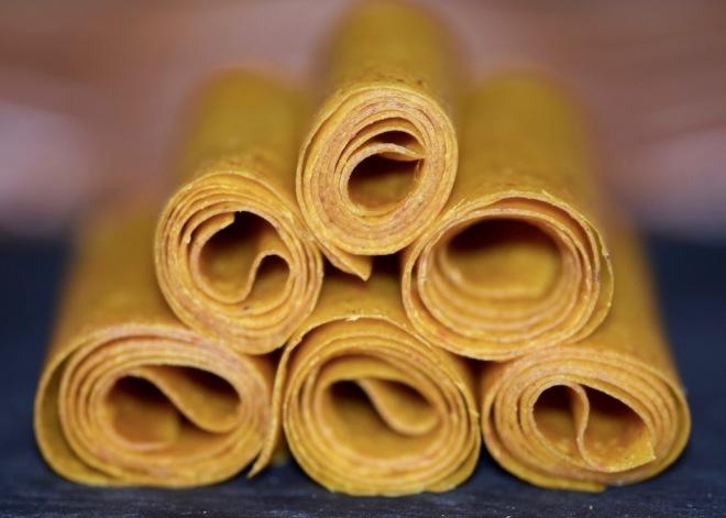 Rezepte: Süsses: Mango-Chili-Fruchtleder - Pyramide