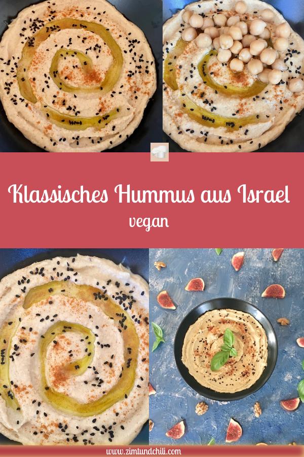 hummus - klassisch - israel - orientalisch - dip - kichererbsen - tahina - schnellundeinfach - cremig - rezept - vegan