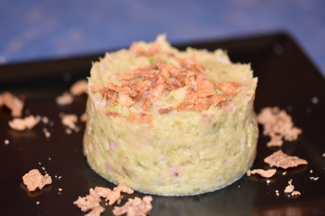 Rosenkohlpüree mit Schinken - Rosenkohlpüree - Schinken - Low Carb - ohne Kartoffeln - Rezept - milchfrei - glutenfrei - Beilage - Rosenkohl - einfach -schnell