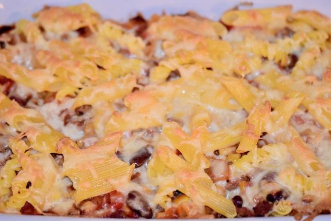 Nudelgratin - Nudelauflauf - Hackfleisch - Gemüse - Rezept - einfach - Gratin - Pasta - glutenfrei - milchfrei - Nudeln